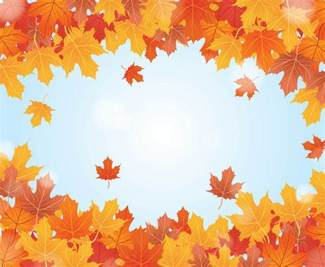 Fall Backgrounds Realistic by Fall Background Vector Vector Graphics Freevector