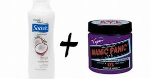 Mix Inexpensive White Conditioner With Manic Panic Hairdye