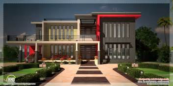 contemporary home plans beautiful contemporary luxury villa with floor plan kerala home design and floor plans