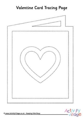 hearts tracing page