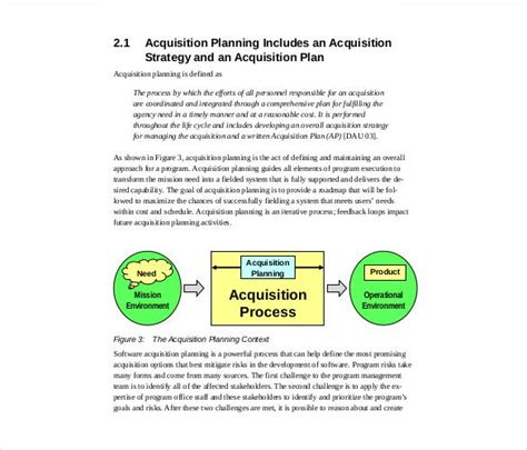 acquisition strategy templates  sample