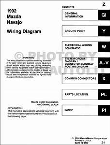 1992 Mazda Navajo Wiring Diagram Manual Original