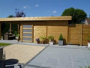 Abri De Jardin Avec Terrasse : abri de jardin moderne avec terasse veranclassic ~ Dailycaller-alerts.com Idées de Décoration