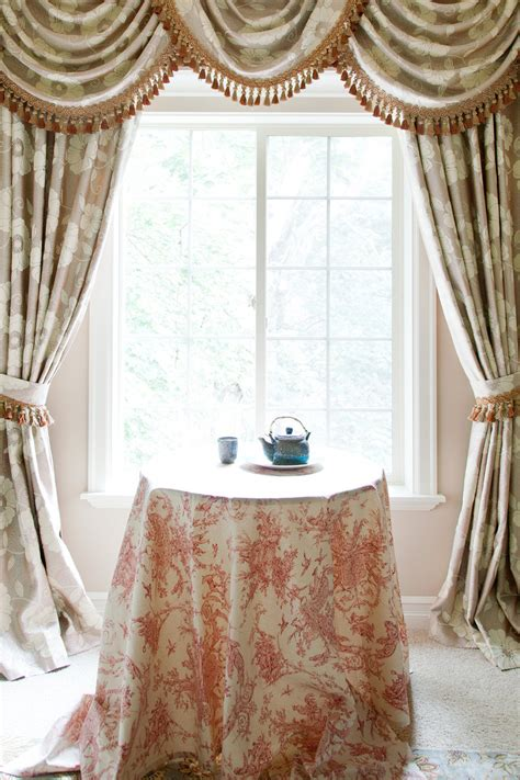 curtains valances and swags green camellia swag valances curtain draperies