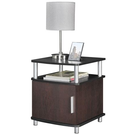 black end tables with storage end table with storage in cherry and black 5083196