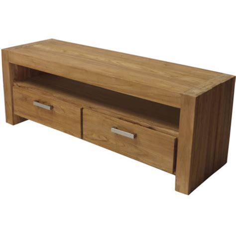 meuble tv 2 tiroirs teck bross 233