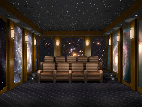 home theater space murals images amazing images