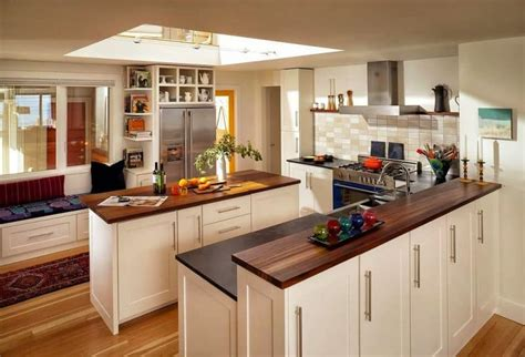 kitchens  wood counters decor outline