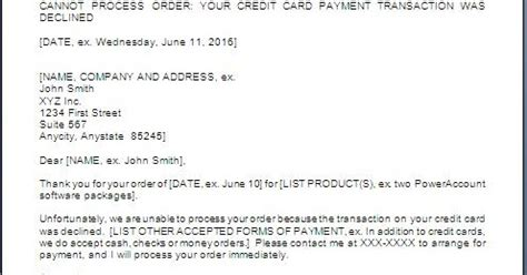 credit card transaction declined letter