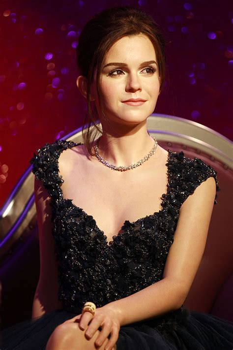 Sitting On The Bench Waiting For You by Emma Watson Wax Figure Debuts At Madame Tussauds Photos