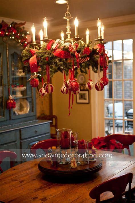 christmas chandelier decor ideas  pinterest