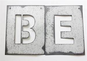 Metal letter stencil zinc steel initial home room decor diy for Large metal letter stencils