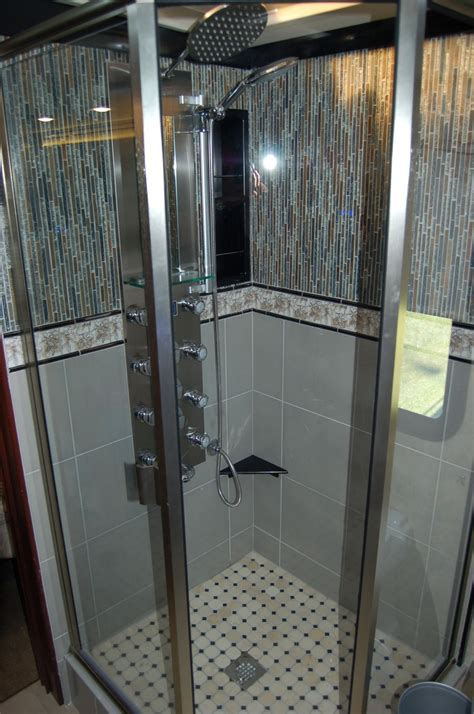 rv shower enclosures showers rv renovations by classic coach works