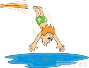 Diving into Pool Clip Art