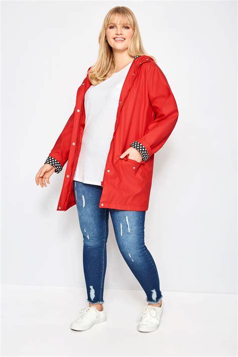 rode jas met coating grote maten