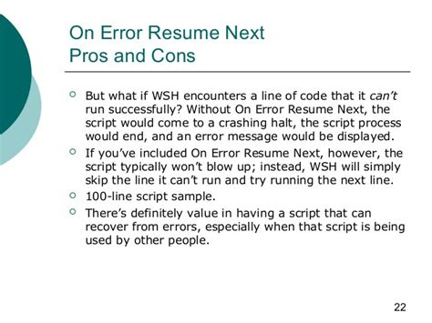 On Error Resume Next by Excel Visual Basic On Error Resume Next Definekryptonite