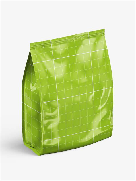 Sample design is not included in the download file. Glossy food bag mockup - Smarty Mockups