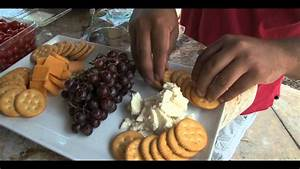 Easy Cheese and Crackers Platter - YouTube