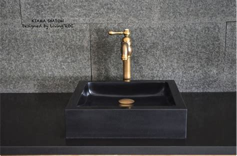 black granite stone bathroom vessel sinks kiama