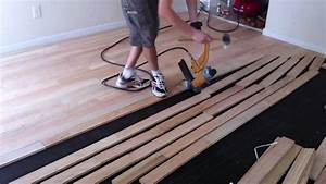 how to install nail down unfinished hardwood floors With how to install nail down bamboo flooring