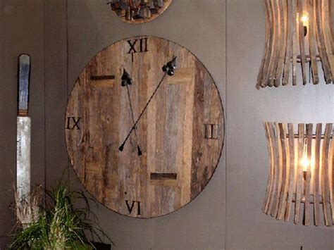 funky clock  reclaimed wood upcycle art