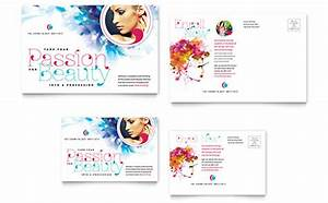 beauty nail salon postcard templates word publisher With microsoft office postcard templates