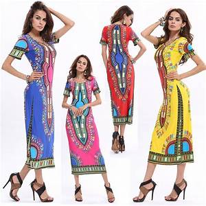 summer traditional african fashion women clothing sexy With robe longue manche courte