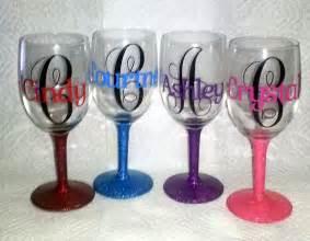 bridesmaid wine glasses personalized wine glasses
