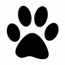 Dog Paw Print Stencil Printable