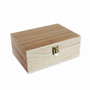 Boite à Thé Bois : boite en bois 4 compartiments 20 x 14 x 8 cm ~ Teatrodelosmanantiales.com Idées de Décoration