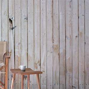 Papier Peint Effet Lambris : papier peint effet bois blanc 403x250 ~ Zukunftsfamilie.com Idées de Décoration
