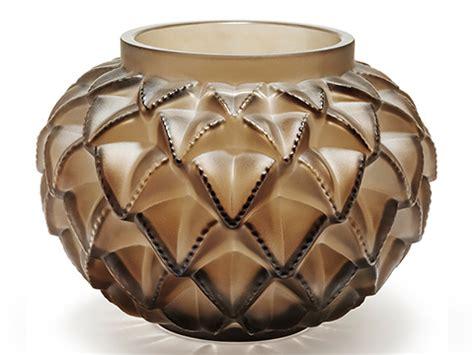 vasi lalique vaso lanquedoc grand bronze in cristallo lalique serra roma