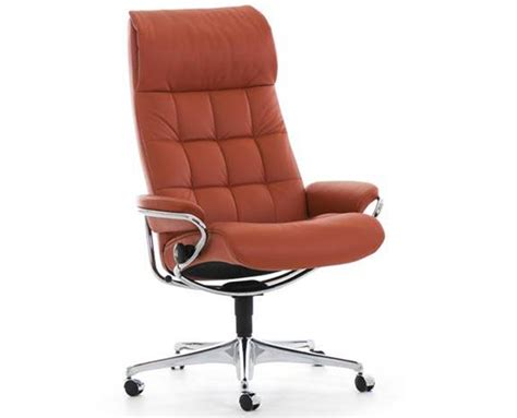 ekornes stressless high back leather recliner and