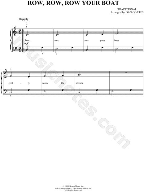 Row Your Boat Bass Tab by Traditional Quot Row Row Row Your Boat Quot Sheet In C