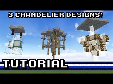 minecraft 3 chandelier designs tutorial
