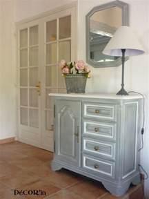 meuble bas style louis xii peint gris patin 233 dessus peint