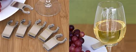 stainless steel wine glass plate clips  green head