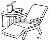 Chair Drawing Garden Lawn Table Drawings Timtim Lounge Coloring Bw Building Category Getdrawings Tools sketch template