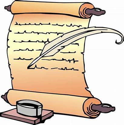 Scroll Clipart History Clip Writing Library Cliparts