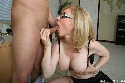 Horny Mom In Glasses Nina Hartley Sucks And Fucks A Cock