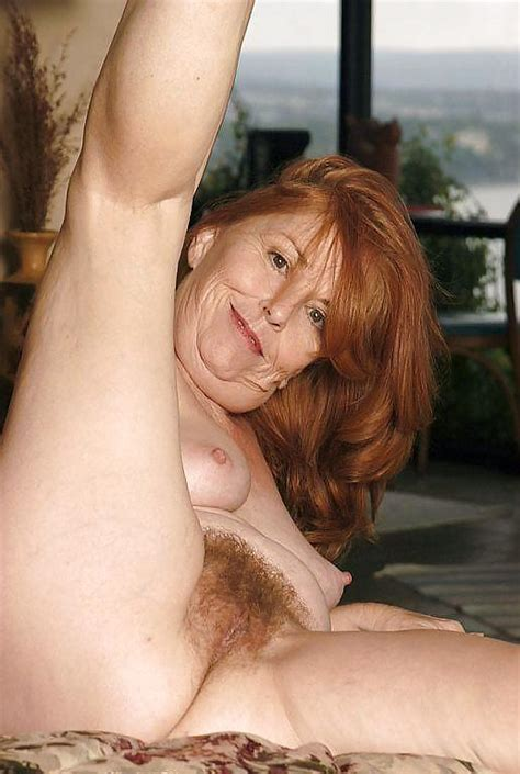Hairy Granny Redhead Showing Her Goods 25 Pics