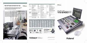 Roland Vs 2400 Users Manual