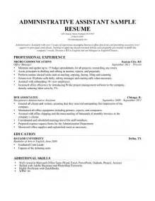 administrative assistant resume exle write yours today