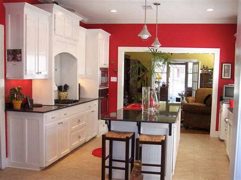 red kitchen walls with white cabinets the red white kitchen ideas for your home my kitchen