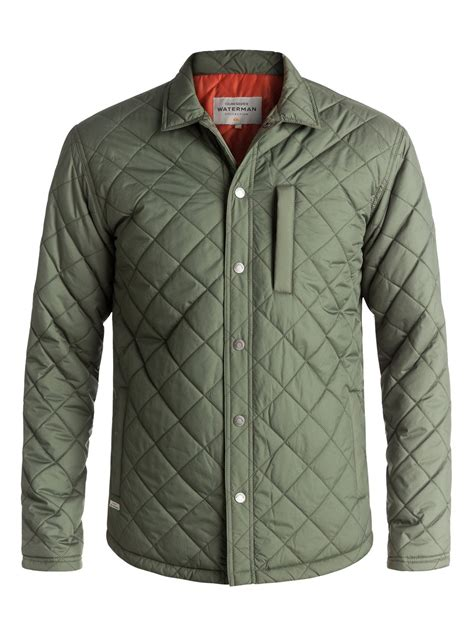 quilted shirt mens waterman puffed up water repellent quilted shirt jacket