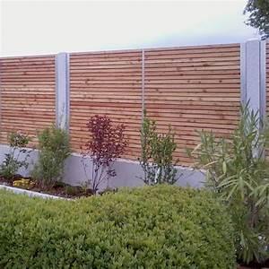 Welches Holz Für Gartenzaun : granit holz edelstahl zaun for the garden pinterest ~ Lizthompson.info Haus und Dekorationen