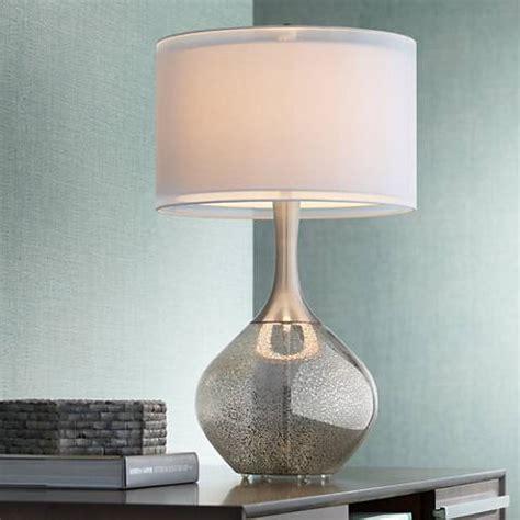mercury glass l base possini euro design swift modern mercury glass table l