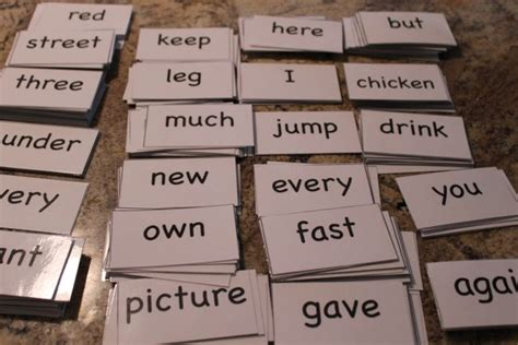 dolch  sight words flash cards  homeschool