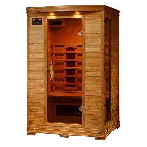 2 mann sauna radiant sauna 2 person hemlock infrared sauna with 5 ceramic heaters bsa2406 the home depot