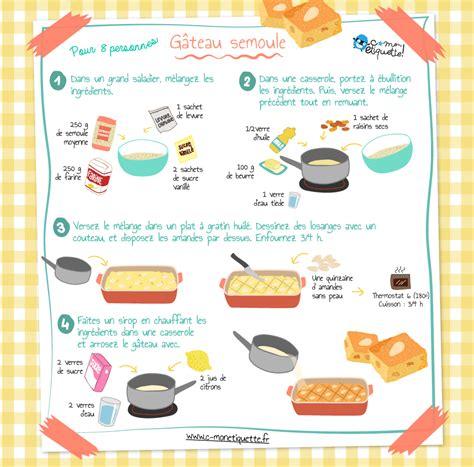 cuisiner la semoule recette gâteau semoule